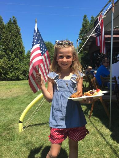 Happy customer at the All American Cook Out
