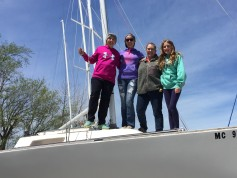 Fleet 44 girls - spinnaker training